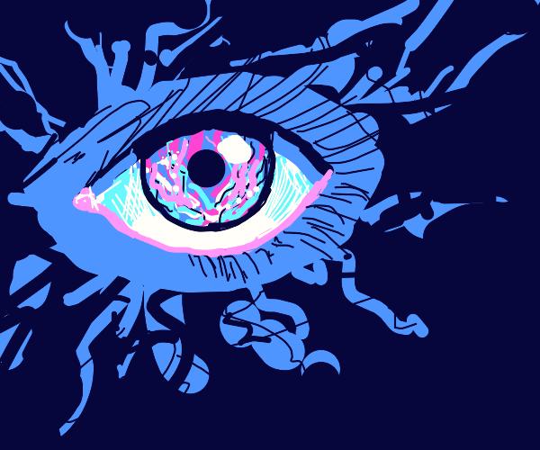 flame burns blue eye