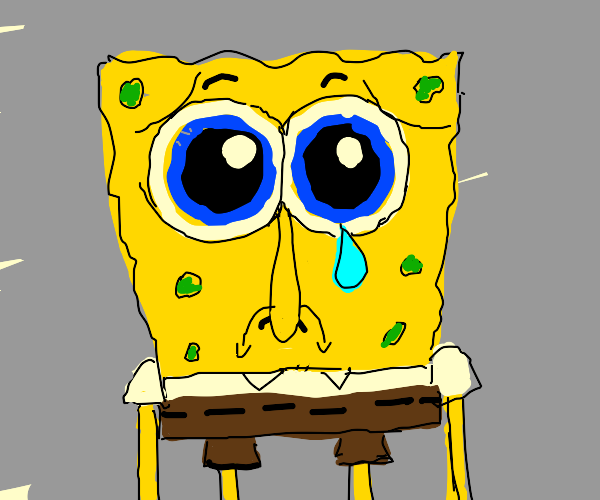 creepy sad spongebob
