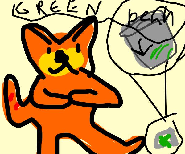 Garfield kicking Green Beans