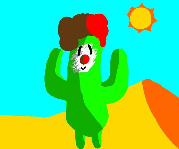 cactus that is a clown