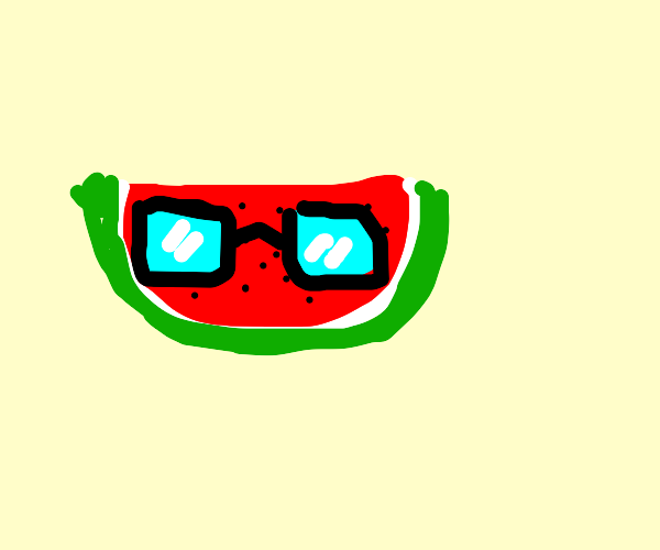 Watermelon with Glasses