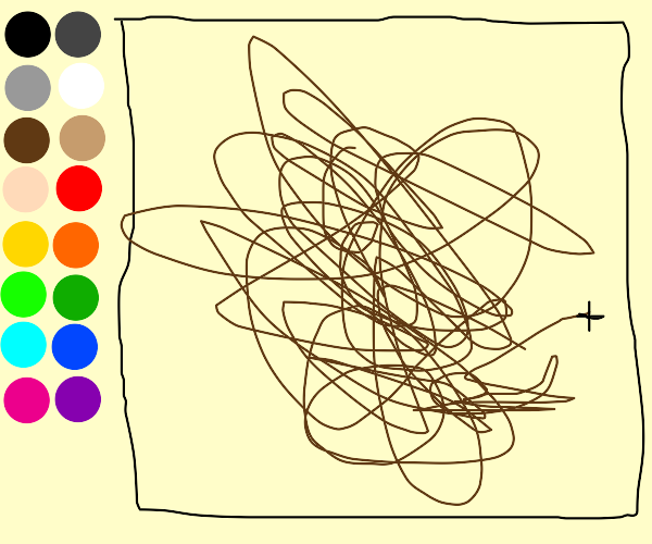 Drawing a scribble on Drawception.