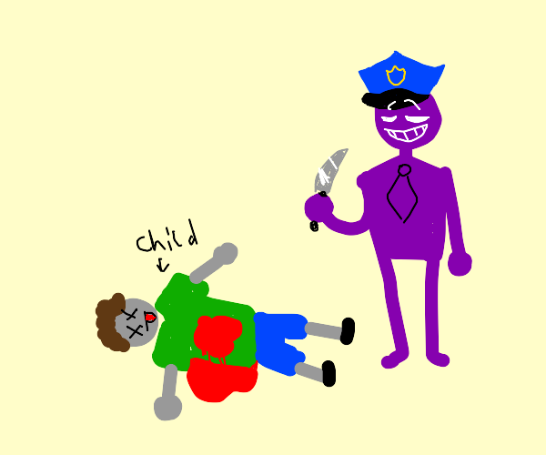 PurpleManInPoliceCap was the murderer of kids