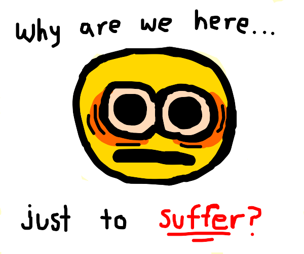 Yellow man has an existential crisis