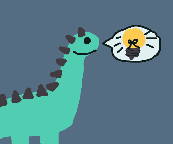 A dino has an idea.