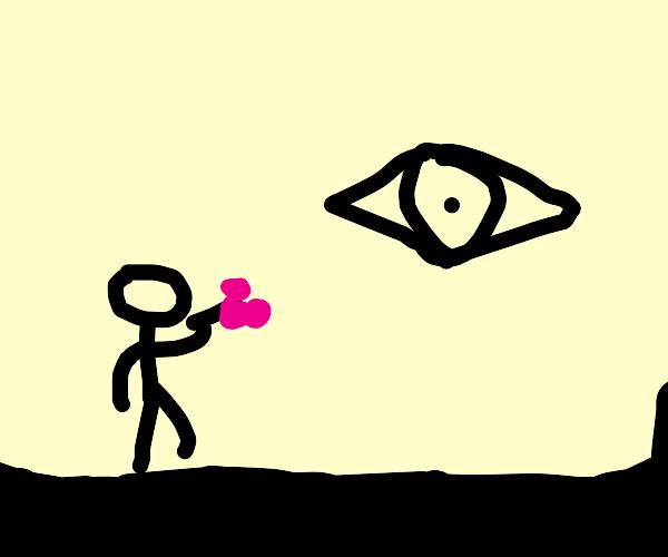 Virgin worships a flying eye