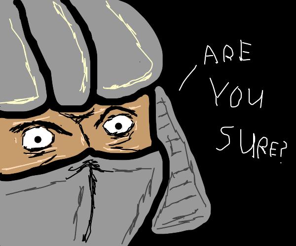 Master Shredder, I think