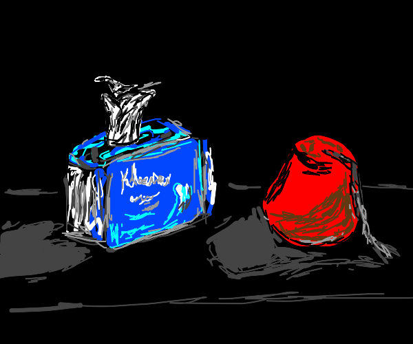 tissue box (kleenex specifically) with a fez
