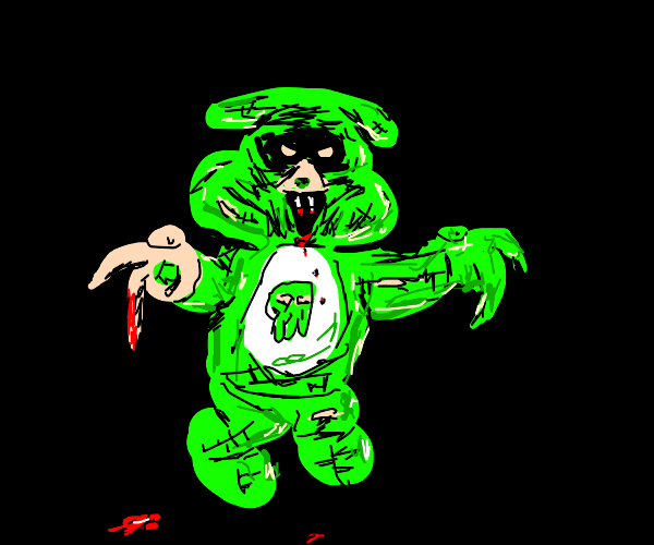 Uncare-bear out to scare