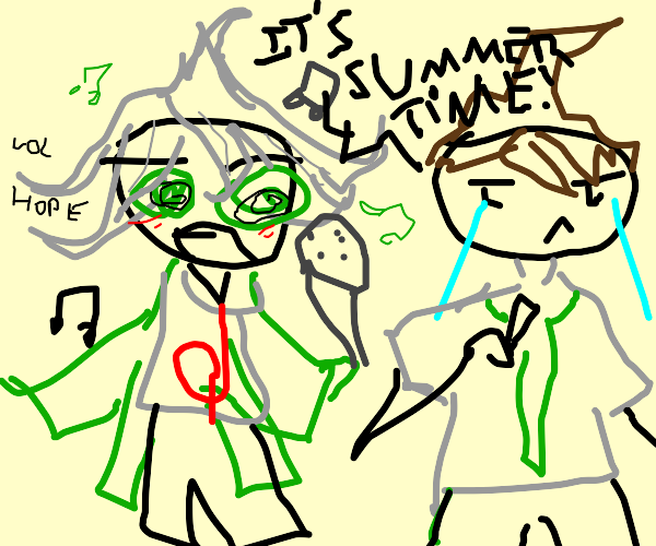 DR2 chracters(I think)singing It's Summertime