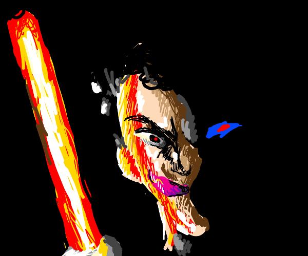 markiplier holding a lightsaber