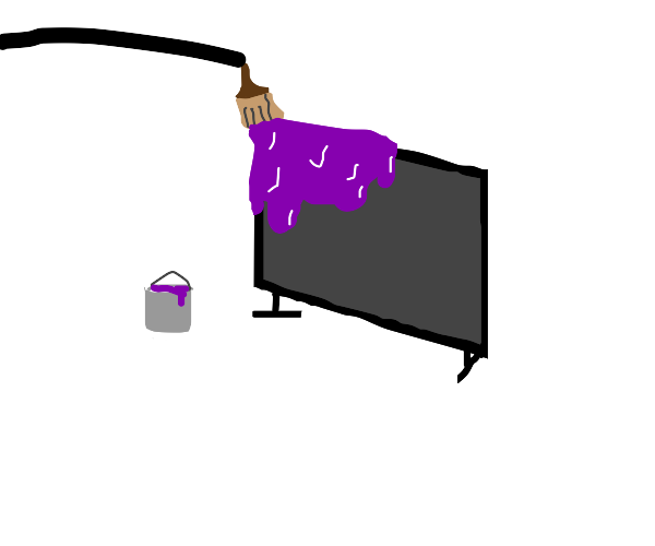 Painting your TV
