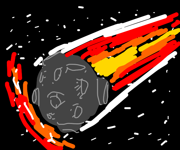 Huge Meteor going fast