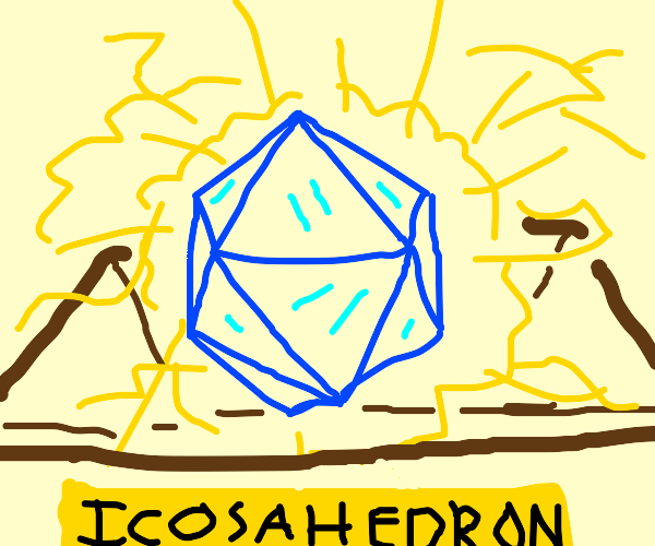 the famous ICOSAHEDRON OF TRANSCENDANCE