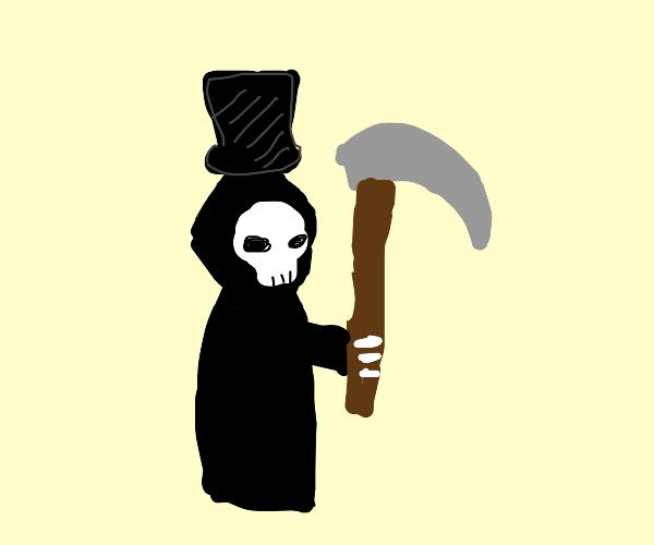Grim Reaper wearing a Top Hat