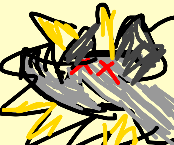 Dead rhino explodes