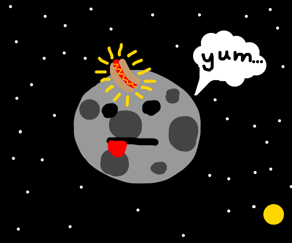 Hot Dog on the Moon