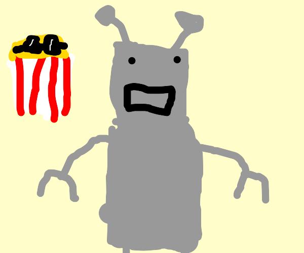 cool robot popcorn
