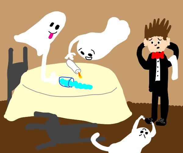 ghosts make waiter sad :(
