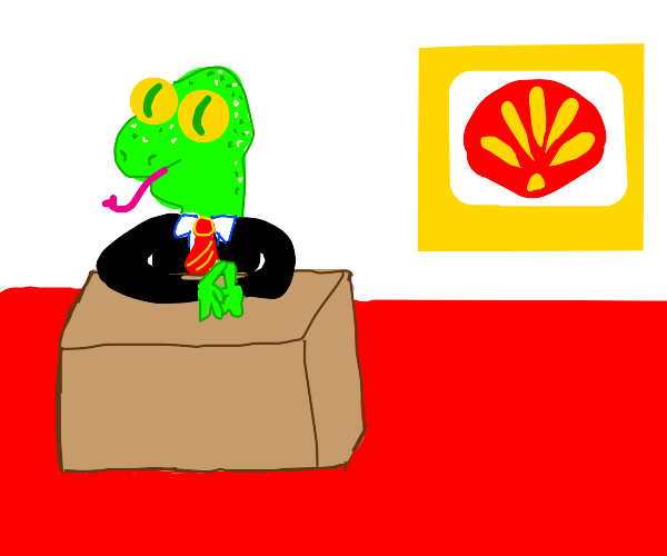 CEO of shell is one bankrupt reptiloid.
