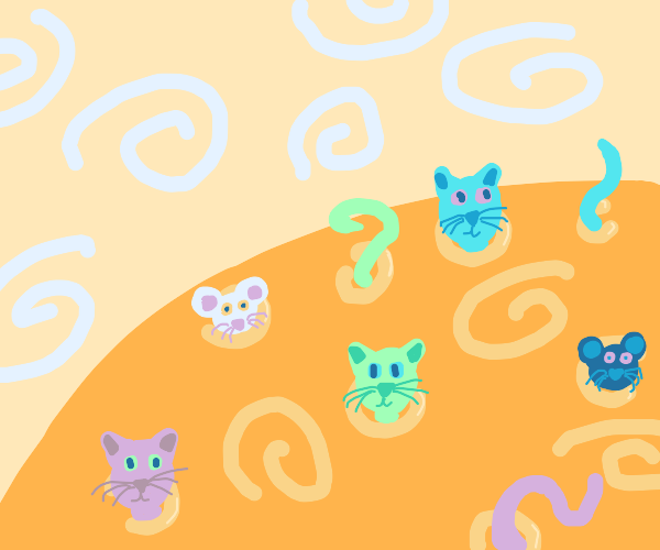 Cats & mice sprout from craters