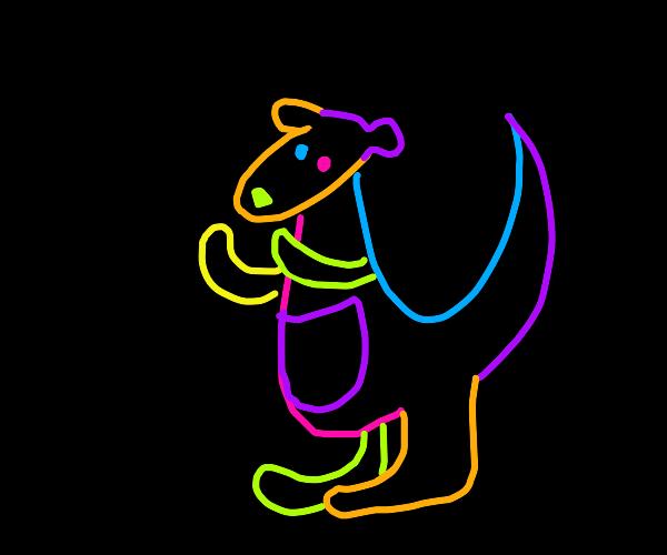 Trippy kangaroo