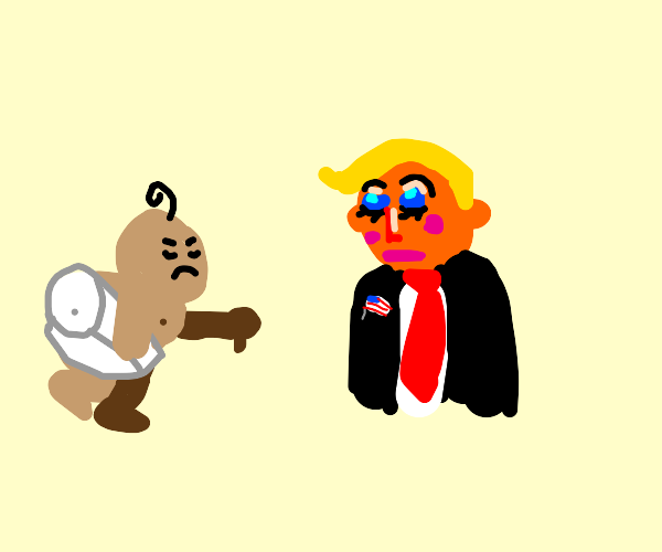 Baby doesn't like Trumps makeup