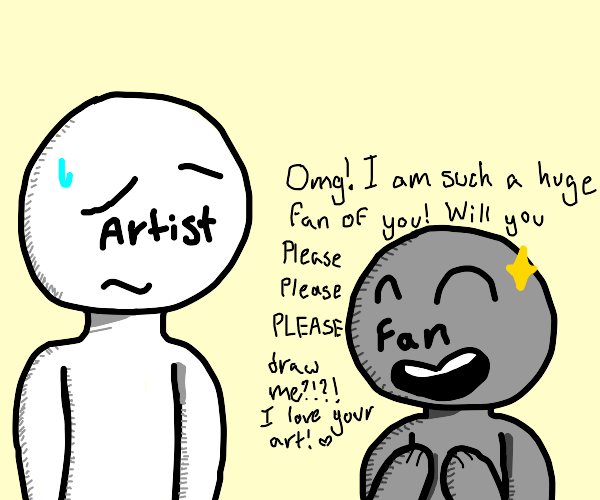 Fans ask artist to draw them
