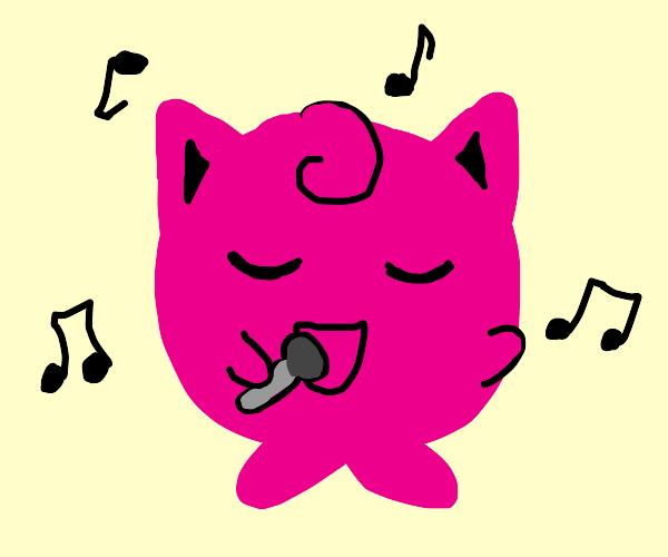 jigglypuff sing make pepole go sleep