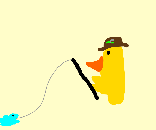 Duck fishing