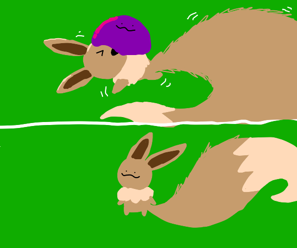 Ditto eats eevee and impersonates them