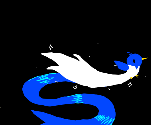 Blue Bird In a Wedding Dress