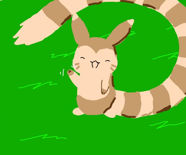 very happy furret (pokemon)