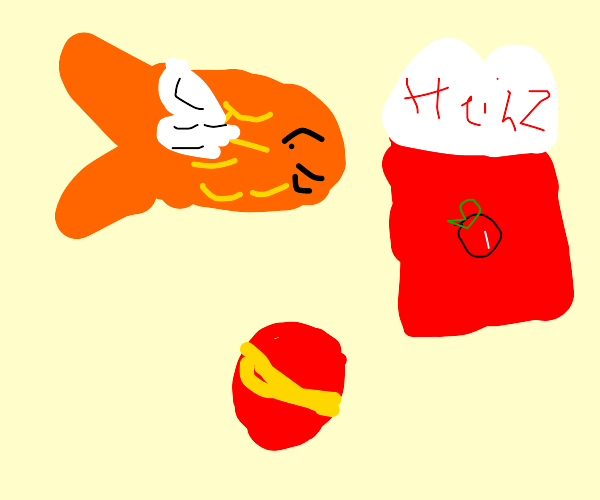 Flyingfish playing with Ketchup