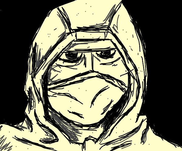 man in a hoodie wearing a mask