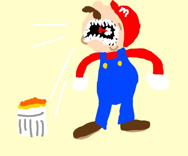 Mario consumes  C R E M E B R U L E