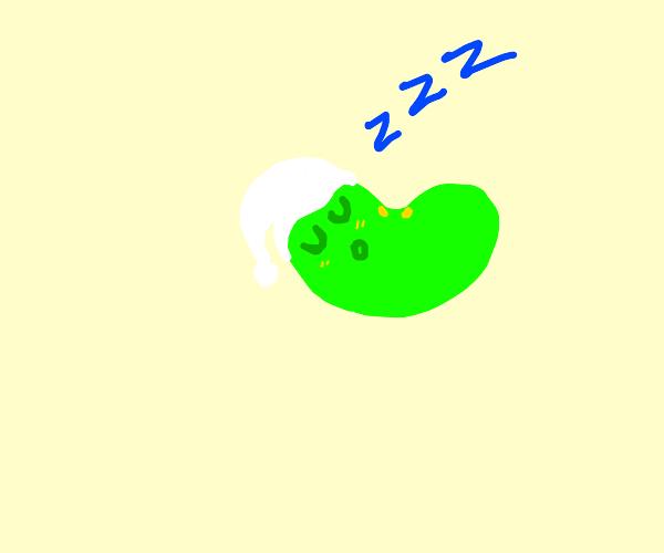A bean sleeping