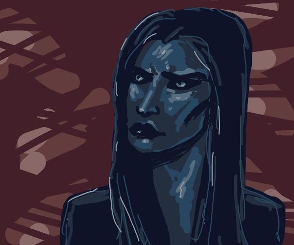 A dark women