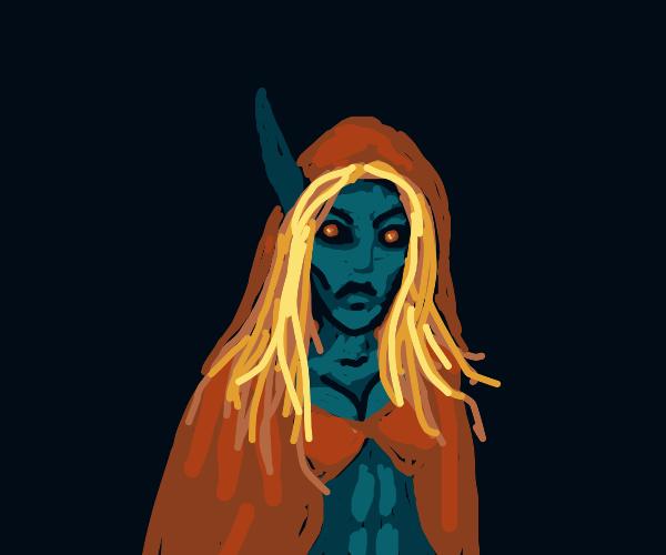 Terrifying elf/demon hybrid