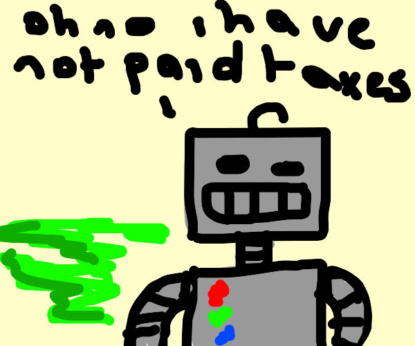 a gassy robot who is very scared :)