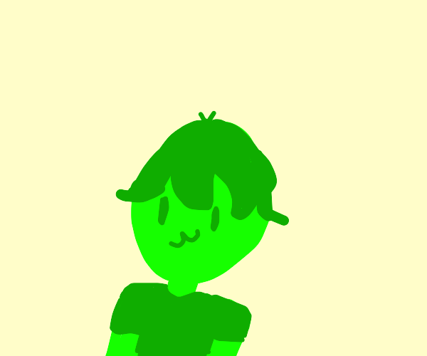 some guy but hes green