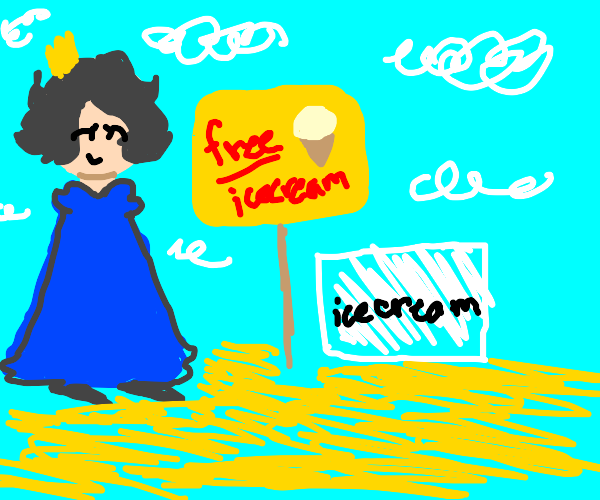 the best queen gives free icecream at beach