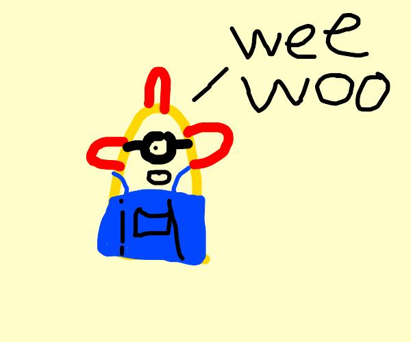 Legless minion says Wee Woo