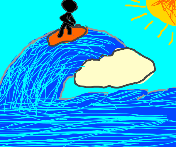 a Cool Dude surfing