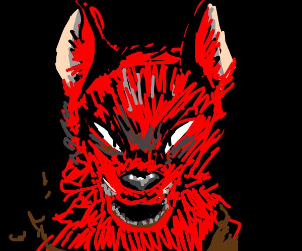 Red werewolf is PISSED.