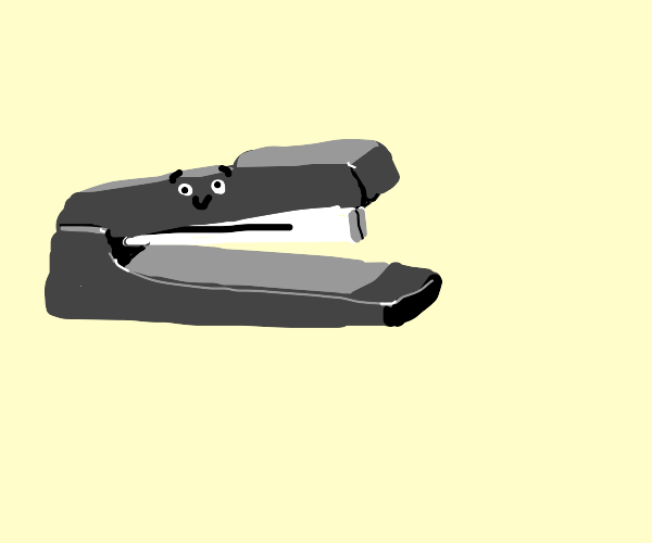 stapler with a face on it