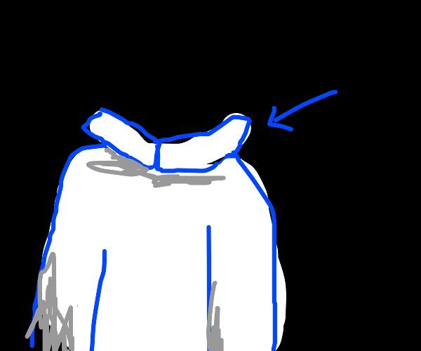 collar of shirt