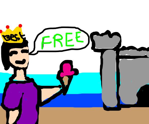 Best queen ever says ice cream is free