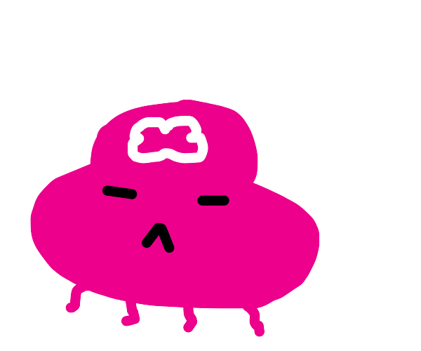 very cute pink blob with four short tentacles