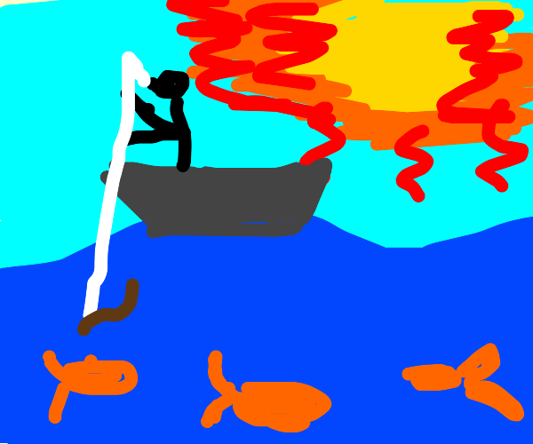 Fishing on a sunny day